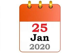 Burns Supper 2020 calendar date image