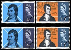 1966_robertburns_double stamps
