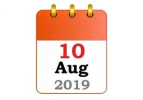 event 10th of August 2019